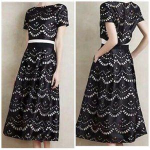 Sachin & Babi Noir Lazercut Dress